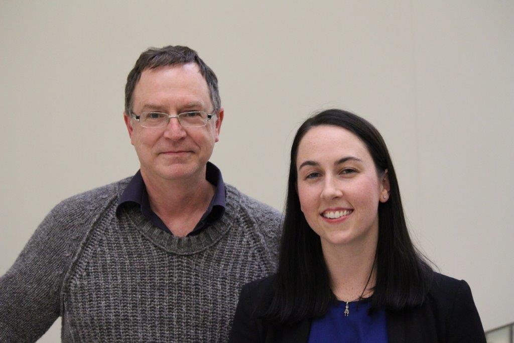 Dr. Gary Groot and Cheyenne Lawton