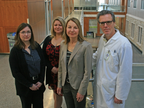 Left to right: Dr. Julie Kosteniuk, Dr. Megan O'Connell, Dr. Debra Morgan, Dr. Andrew Kirk. (Photo: Michael Robin)